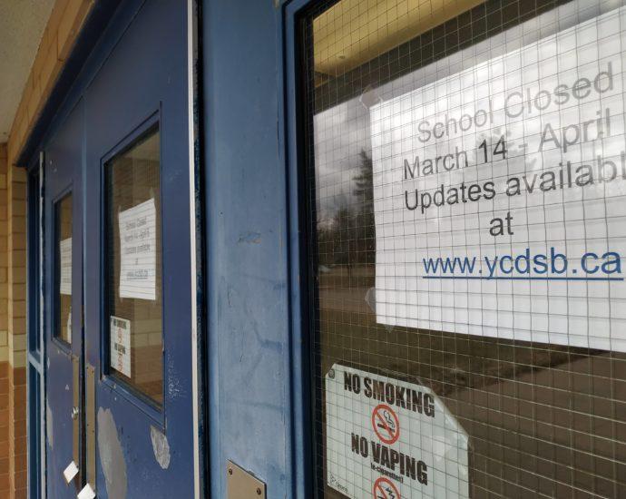 Closed school during Covid lockdown