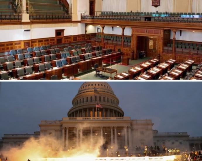 Empty Ontario Legislature & US Capitol Riots