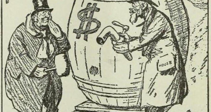 Pork Barrell cartoon (piublic domain)