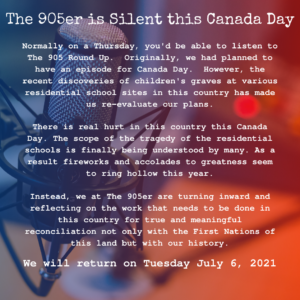 Text describing why we didn't post an episode on Canada Day